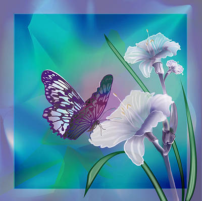 Gina Femrite Painting - Contemporary Painting Of A Dancing Butterfly  by Regina Femrite