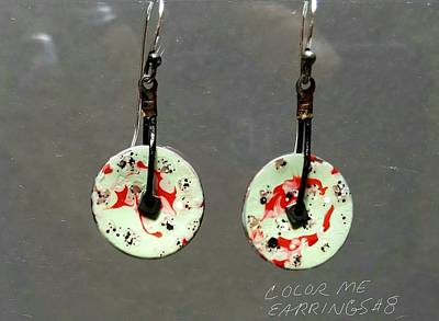 Jewelry - Contemporary Red, Green Earrings by Brenda Berdnik