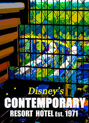 Walt Disney World Digital Art - Contemporary Window To The World by David Lee Thompson