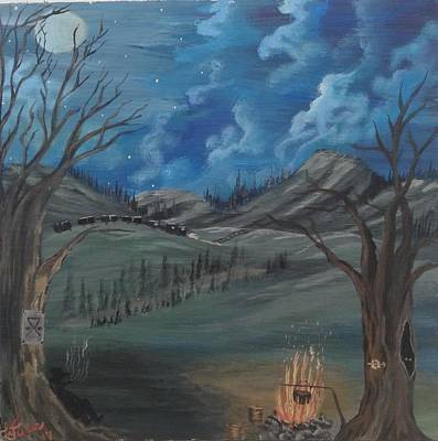 Bob Ross Painting - Content by Lori Lafevers