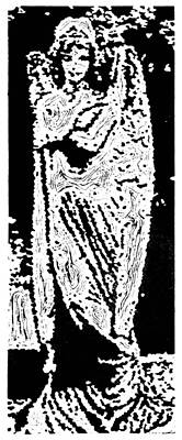 Contentment --  Hand-pulled Linoleum Cut Art Print
