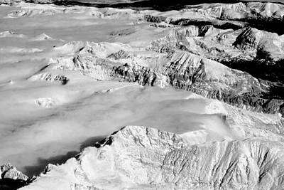 Photograph - Continental Divide Clouds Rocky Mountains by James BO Insogna