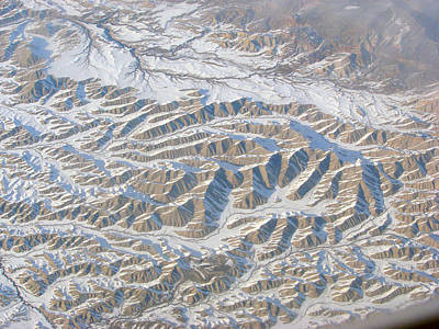 Photograph - Continental Divide From 30000 Feet by Phyllis Britton