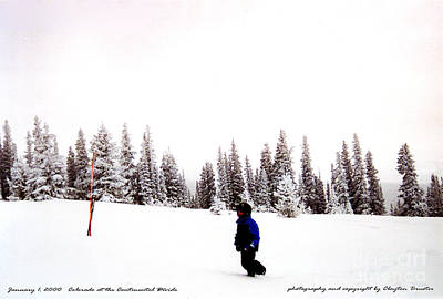 Photograph - Continental Divide January 1 2000 by Clayton Bruster