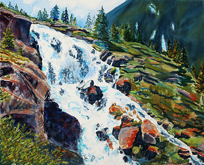 Pastel - Continental Falls Revisited by Mary Benke
