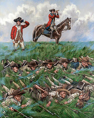 Continental Troops On Perrine's Hill Original by Mark Maritato