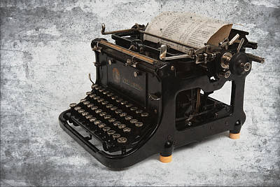 Author Mixed Media - Continental Typewriter by Daniel Hagerman