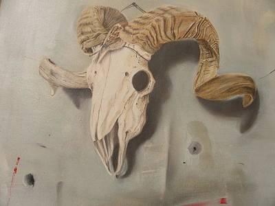 Bird And Ibex Original by Mourad Abdalla