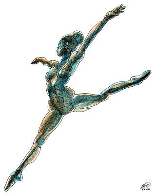 Contour Dancer Art Print by Ryan Irish