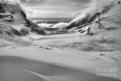 Photograph - Contours Of Winter Black And White by Adam Jewell