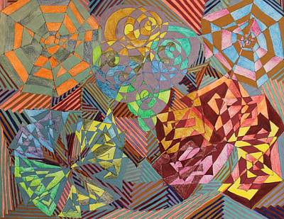 Geometrical Drawing - Contra by Lesa Weller