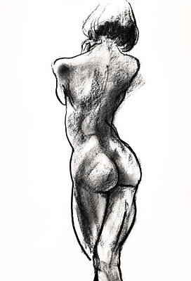 Contra Posta Female Nude Art Print by Roz McQuillan