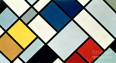 Rectangles Painting - Contracomposition Of Dissonances by Theo van Doesburg