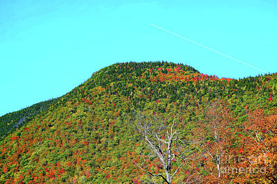 Photograph - Contrail Over Ridgetop by Patti Whitten