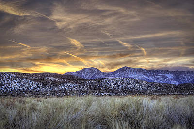 Photograph - Contrails And Sage Brush by Robert Melvin