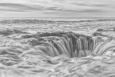 Photograph - Contrasted Thor's Well by Russell Pugh