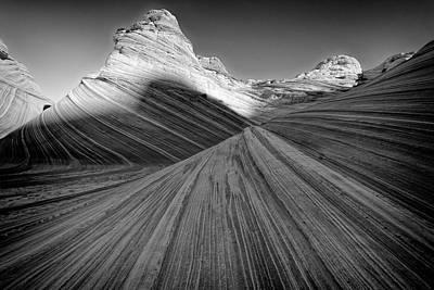 Photograph - Contrasting Waves by Jonathan Davison
