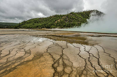 Photograph - Contrasts At Midway Geyser Basin by Sue Smith