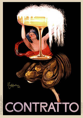 Contratto Champagne Italy 1922 Art Print by Daniel Hagerman