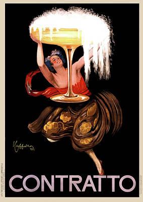 Contratto Champagne Italy 1922 Art Print