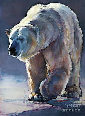 Bear Painting - Contre-jour by Mark Adlington