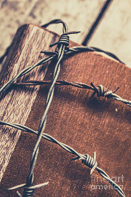 Barbed Photograph - Control And Confidentiality by Jorgo Photography - Wall Art Gallery