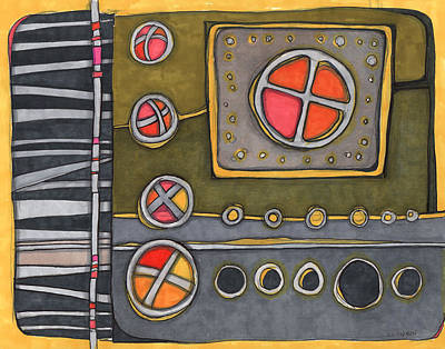 Abstract Digital Drawing - Control Panel  by Sandra Church