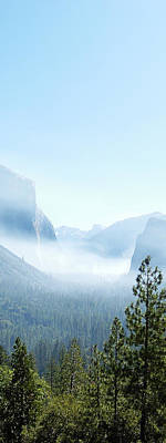 2 Of 4 Controlled Burn Of Yosemite Section Art Print