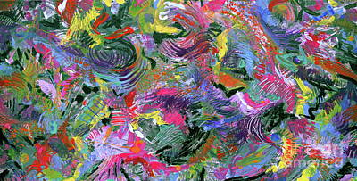 Painting - Controlled Chaos by Expressionistart studio Priscilla Batzell