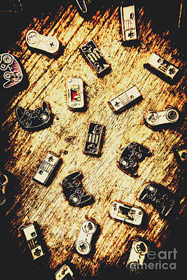 Electronic Photograph - Controllers Of Retro Gaming by Jorgo Photography - Wall Art Gallery