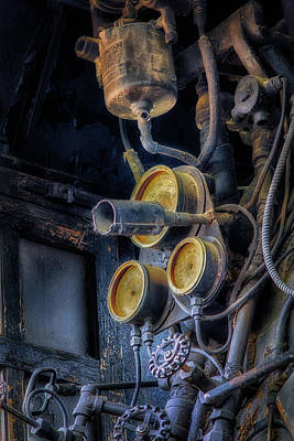 Photograph - Controls Of A Steam Locomotive by James Barber