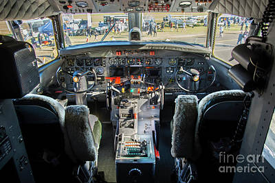 Photograph - Convair 440 Cockpit by Stuart Row