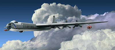 Digital Art - Convair B-36 Peacemaker by Larry McManus