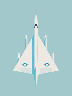 Air Force Poster Digital Art - Convair B-58 Hustler Us Air Force Supersonic Jet Bomber - Sky by Ivan Krpan