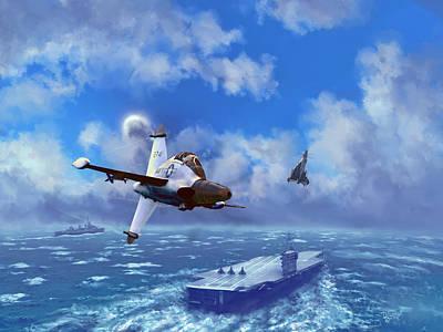 Digital Art - Convair Xfy-1 Pogo by Dave Luebbert
