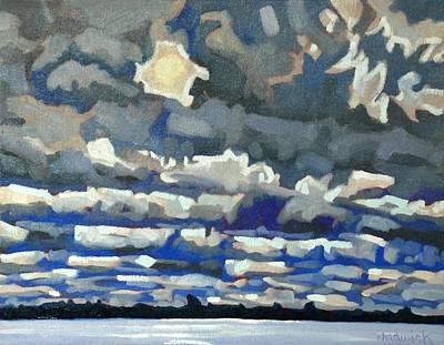 St. Lawrence River Painting - Convection Killer by Phil Chadwick