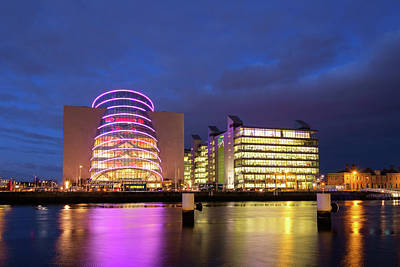 Photograph - Convention Centre Dublin And Pwc Building In Dublin, Ireland by Jose Maciel