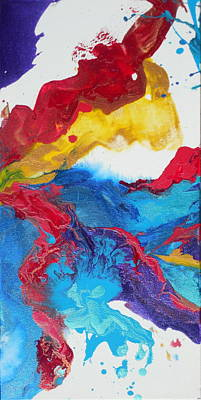 Set Of Four Painting - Convergence 3 by Holly Anderson