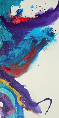 Set Of Four Painting - Convergence 4 by Holly Anderson
