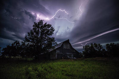 Lightning Photograph - Convergence  by Aaron J Groen