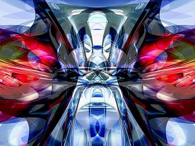 Confluence Digital Art - Convergence Abstract by Alexander Butler