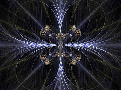 Convergence Digital Art - Convergence by Barbara A Lane