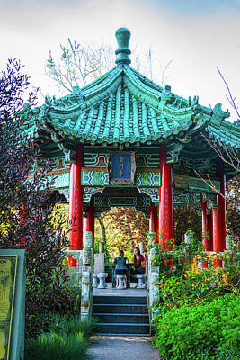 Photograph - Conversation At The Chinese Pavilion by Bonnie Follett