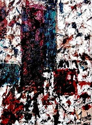 Painting - Conversation  by Fareeha Khawaja