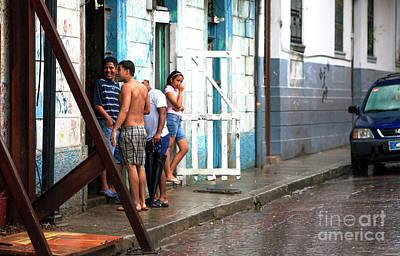 Photograph - Conversation In Casco Viejo by John Rizzuto