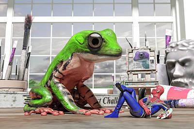 Surrealism Digital Art - Conversational Art  by Betsy Knapp