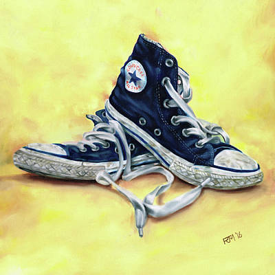 Converse Allstars Art Print by Richard Mountford