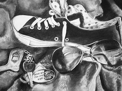 Drawing - Converse And Keys by Emily Maynard