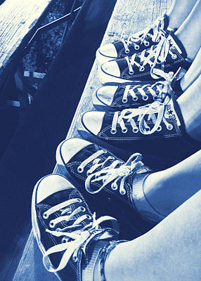 Converse Blues Art Print by JAMART Photography