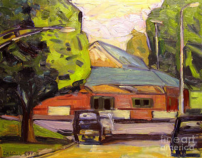 Converse Pennsylvania Rr Station Ipapa Plein Air Framed Original
